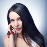lång kvinna för hår Fotografering för Bildbyråer