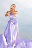 lång kvinna för klänning Royaltyfria Bilder