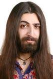 lång man för haired hippie Arkivbilder