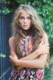 lång modell för härligt hår Royaltyfria Bilder