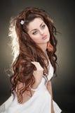 lång modell för hår fotografering för bildbyråer