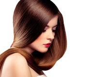 lång modell för hår Royaltyfri Bild