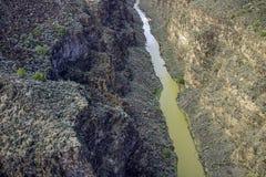 Lång rak flod fotografering för bildbyråer