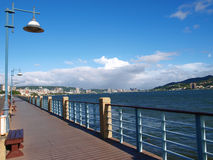 lång seacoast för korridor Royaltyfri Bild