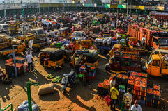 Lång sikt för grönsakmarknad Fotografering för Bildbyråer