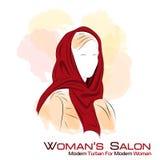 lång silhouettekvinna för klänning Vektor Illustrationer