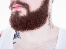 Lång skägg- och mustaschman Royaltyfri Bild