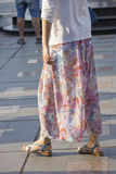 lång skirt Royaltyfri Bild