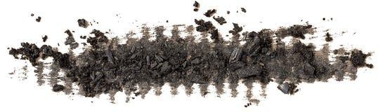 Lång slaglängd för svart för koltexturmålarfärg borste för fläck fotografering för bildbyråer