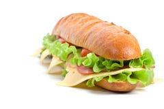 lång smörgås för bagett Fotografering för Bildbyråer