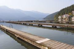 Lång smal Dock royaltyfria bilder