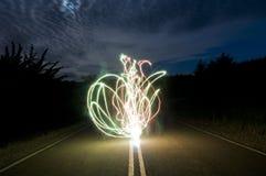lång sparkler för galen exponering Arkivbild