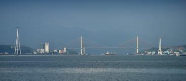 Lång stad för mummel - panoramatic sikt arkivbilder