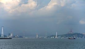Lång stad för mummel - panoramatic sikt royaltyfria foton