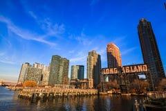 lång stadsö Arkivfoto