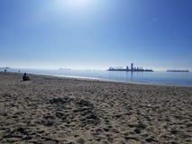 lång strand ca Arkivfoto