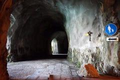 Lång tunel Arkivfoto