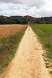 Lång väg till jord Arkivfoton