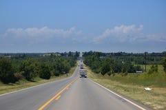 lång väg USA Arkivfoton