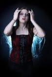 lång vampyr för kvinnlighår Arkivfoton