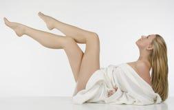 lång whitkvinna för härliga ben Royaltyfri Bild