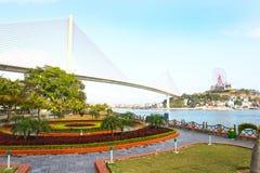 Långa Bay City för mummel landskap, Vietnam askfat Arkivbild
