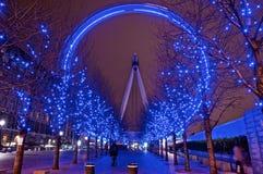 Långa blått för exponeringsmilleniumöga Royaltyfri Foto