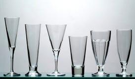 långa drinkexponeringsglas Fotografering för Bildbyråer