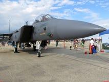 Långa grå färger F15 Eagle Air Superiority Jet Fighter arkivfoto