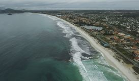 Långa och underbara stränder, strand för Recreio DOS Bandeirantes, Rio de Janeiro Brazil royaltyfria foton