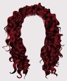 Långa rad-färger för lockiga hår peruk för skönhetmodestil Arkivbilder