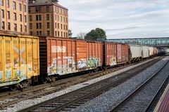 Långa Railcars för mil - 2 Royaltyfria Bilder