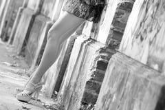 Långa sexiga ben Fotografering för Bildbyråer