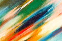 Långa sudd av en mörk vattenfärgmålarfärg Royaltyfria Foton