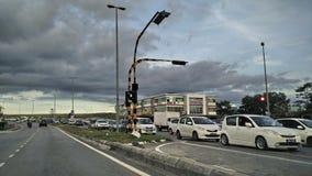 Långa trafikstockningar Arkivbild