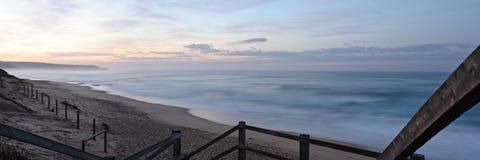 långa waves för exponering Arkivfoto