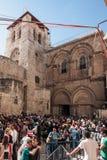 Långfredag i Jerusalem Arkivbild