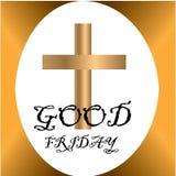 Långfredagillustration för kristet religiöst tillfälle med korset Kan användas för bakgrund, hälsningar, baner, stock illustrationer