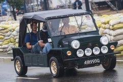 Långsam engelsk bil för gammal Srilankan Arkivfoto