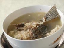Långsam lagad mat fisksoppa för Cantonese royaltyfri bild