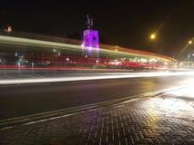 Långsam slutare för Stafford monument Royaltyfria Foton