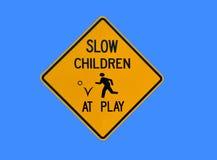 långsamt barnspelrum Arkivfoton