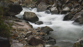 långsamt vatten Arkivbilder