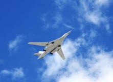 Långskjutande bombplan Tu-160 Arkivfoto