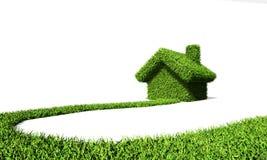 Långt att göra grön huset Arkivfoton