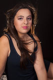 långt brunetthår Royaltyfri Fotografi