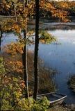 Långt damm - Southampton, New York Arkivbild