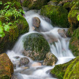 Långt exponeringsfoto av en härlig vattenfall Royaltyfria Bilder