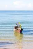 Långt fartyg i Thailand Arkivbild