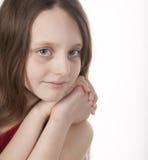 långt flickahår fotografering för bildbyråer